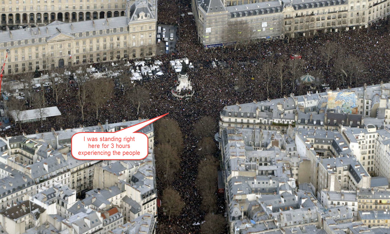 Paris Rally view with Mike